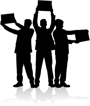 peer: manifestation - a group of people protesting Illustration