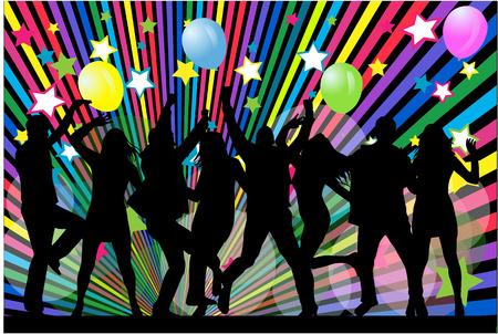 Dansende silhouetten Stockfoto - 35850173