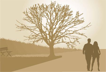 position d amour: Silhouettes de couple  Illustration