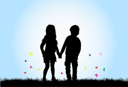 similar images: children silhouette