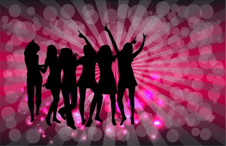 people dancing: Siluette ballanti della gente