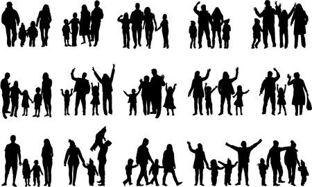 famille: silhouettes familiales