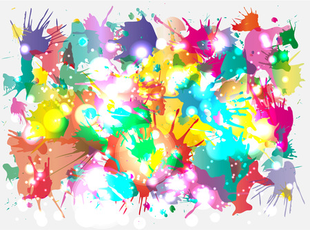 spilled paint: vector blots background Illustration