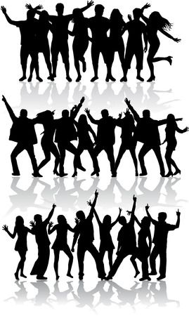 Dansende silhouetten Stockfoto - 36275647
