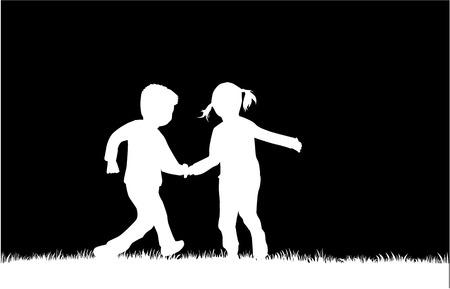 silueta niño: niños siluetas
