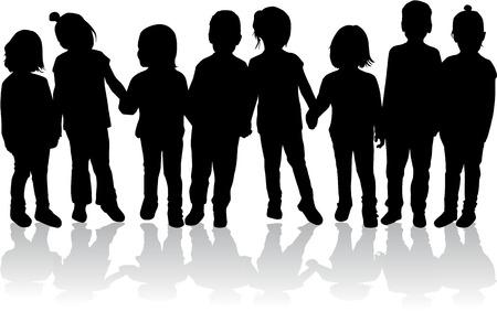 Niños siluetas Foto de archivo - 36275818