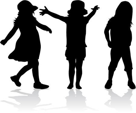 Kinderen silhouet Stockfoto - 36275820