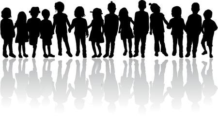 Silhouettes d'enfants Banque d'images - 36383914