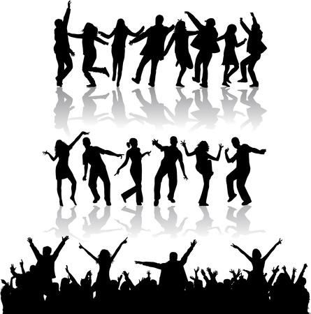 Silhouettes dansantes Banque d'images - 36467337