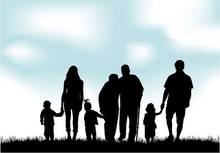 Familienschatten Standard-Bild - 36467347