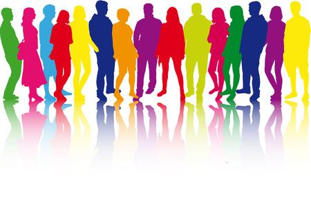 Group of people 向量圖像