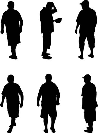 silhouette of a man Illustration