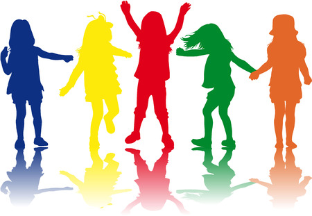 Kinder Silhouetten Standard-Bild - 36467518