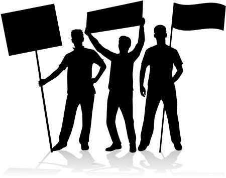 manifestation - a group of people protesting Ilustração