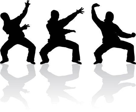 karate: Models Silhouettes Illustration