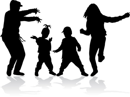 black people dancing: Dancing silhouettes
