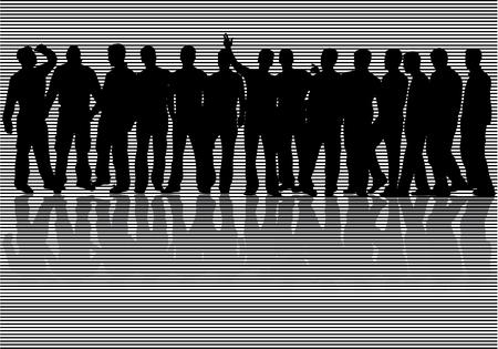 conquest: men silhouettes