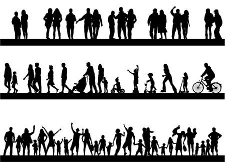 HAPPY FAMILY: La gente pasar el tiempo activamente Vectores
