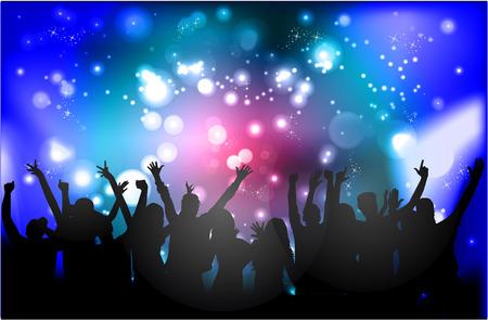 fiestas discoteca: Danza gente siluetas