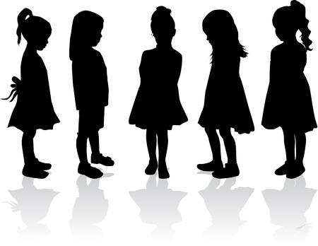 children silhouettes: Children silhouettes
