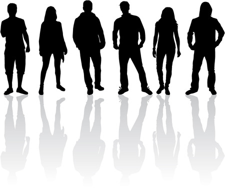 shadow people: Group of people Illustration