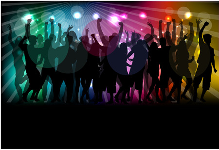 gente che balla: Siluette ballanti della gente