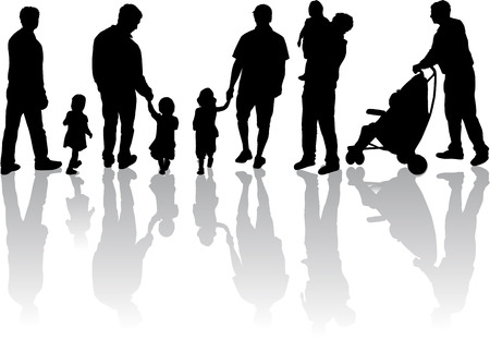 and father: Family silhouette.