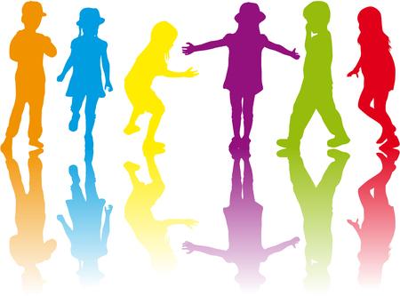 Kinderen silhouetten.
