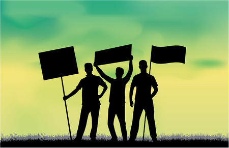 Manifestation - a group of people protesting.