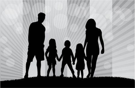 silueta niño: Siluetas de la familia.