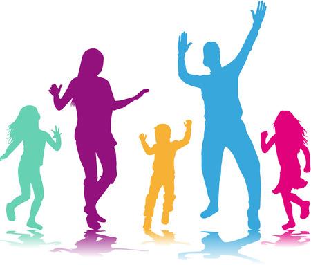 Tanzende Leuteschattenbilder Illustration