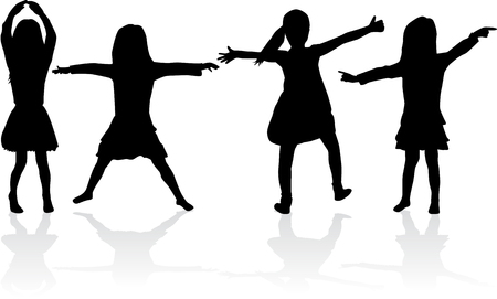 silhouettes: Children silhouettes.