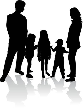 Family silhouettes .