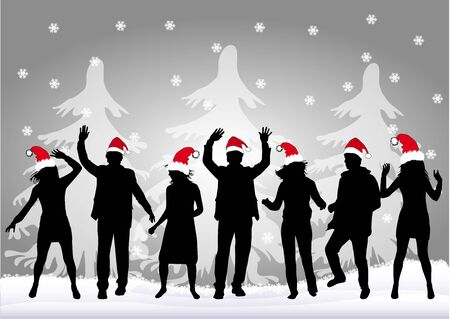 end of year: Christmas Party Illustration