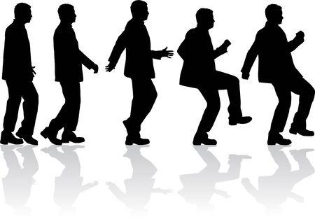 grupo de hombres: siluetas de los hombres.