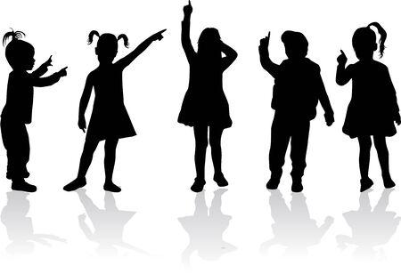 Kinderen silhouetten. Stockfoto - 50665632