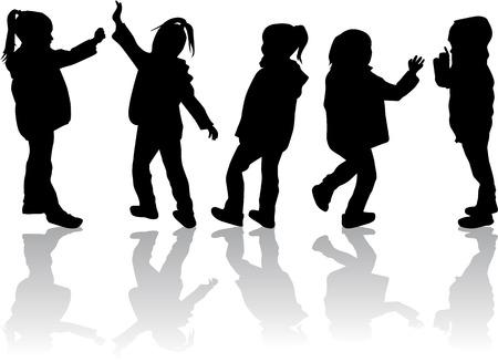 children silhouettes: Children silhouettes.