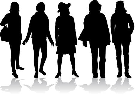 silueta humana: Siluetas de la Mujer Vectores