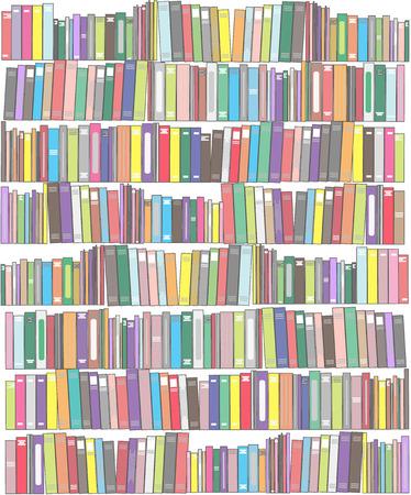 Fondo con los libros. Ilustración de vector