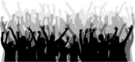 Dansende mensen silhouetten.