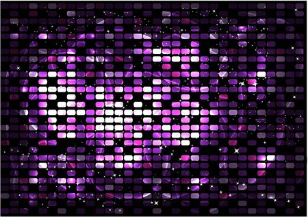 colorful background: Vector colorful pixel effect background.