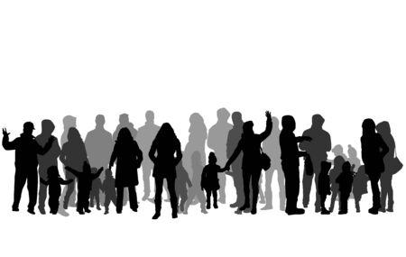Silhouette vettoriali di famiglia