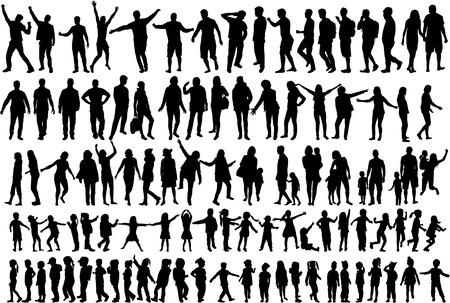 Grandes colección siluetas de personas.
