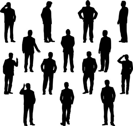 shadow people: Business people. Silhouettes conceptual.