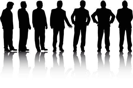 gestures: Business people. Silhouettes conceptual.