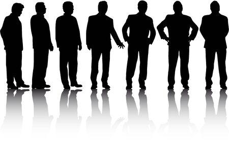 Hommes d'affaires. Silhouettes conceptuels.