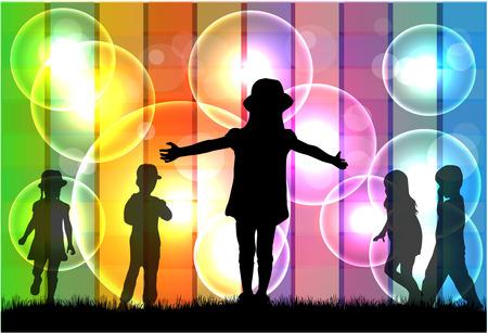 similar images: Children silhouette.