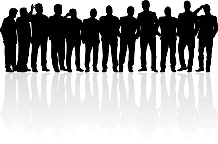 silhouettes people: Business people. Silhouettes conceptual.