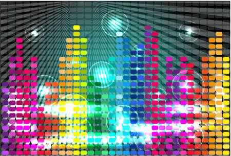 color separation: Vector background.