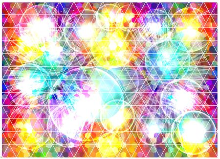 triangular: Colorful geometric background. Illustration